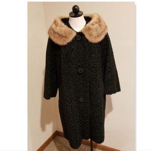 VTG Astrakin Lepshire curly persian lamb fur coat